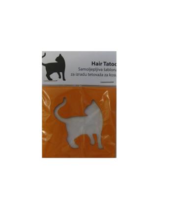 hair tattoo mačka