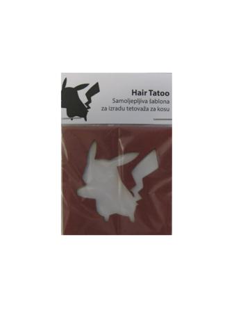 hair tattoo pikachu